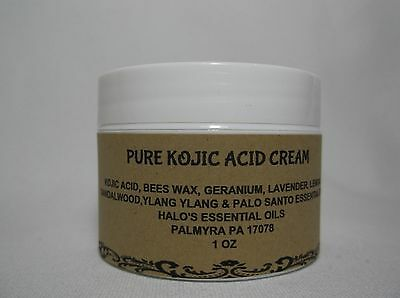 Pure Kojic Acid & Glutathione Skin Whitening Bleaching Cream for Face Neck 1 oz