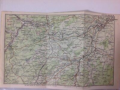 Melrose, Selkirk, Jedburgh & Kelso, 1887 Antique Map, Map, Original - 1887 Antique Map