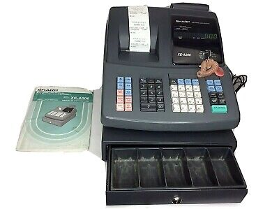 Sharp Xe-a206 Small Business Cash Register With Manual And Keys