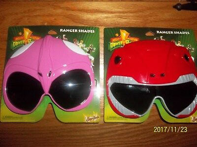 POWER RANGER SUNGLASSES (new) RED AND PINK - Power Ranger Sunglasses