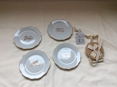 Thanksgiving Appetizer Plates (Pier 1 Imports Give Thanks Appetizer Plate Set ( set of 4 ) Fall)