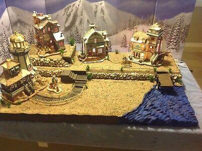 Christmas Village Display Platform, Lemax , Dept56 Ocean Scene