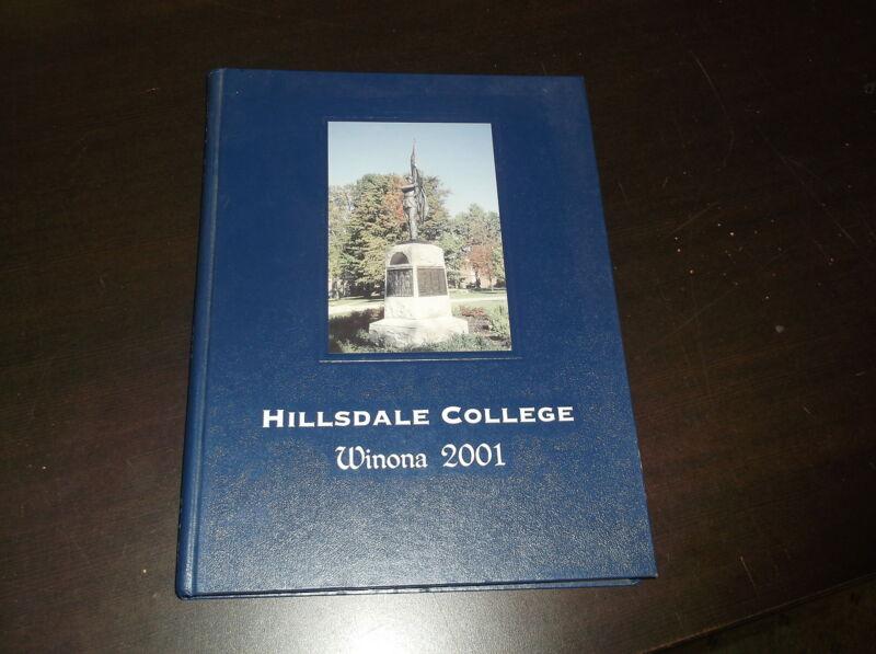 2001 WINONA HILLSDALE COLLEGE YEARBOOK HILLSDALE MICHIGAN