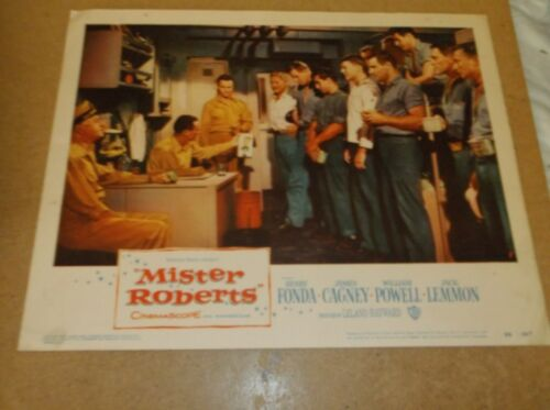 """MISTER ROBERTS(1955)HENRY FONDA ORIGINAL SET OF EIGHT DIFF 11""""BY14"""" LOBBY CARDS"""