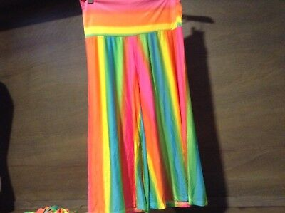 UP USA WOMENS Size S, M, L STRIPED Shorts Culottes FOLD OVER Waist NWOT -