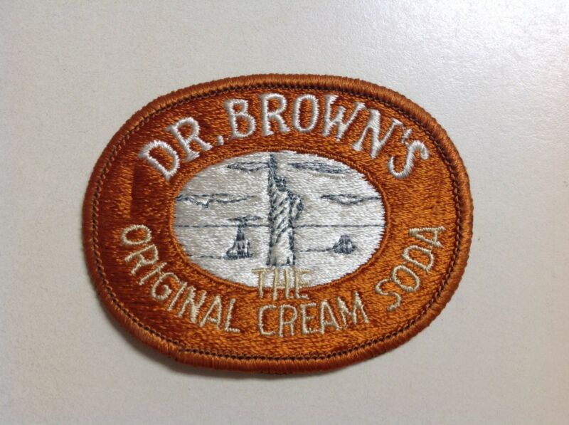 Vintage Dr. Browns The Original Cream Soda Cloth Patch 1970s