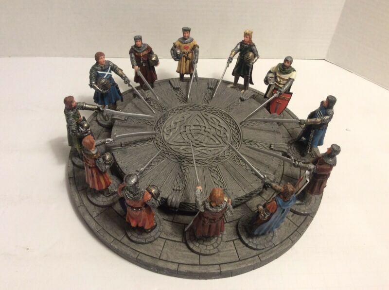 King Arthur & The Knights of The Round Table Hand Painted Sculpture Set