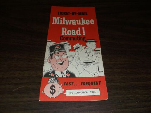 OCTOBER 1976 MILWAUKEE ROAD TICKET BY MAIL BROCHURE
