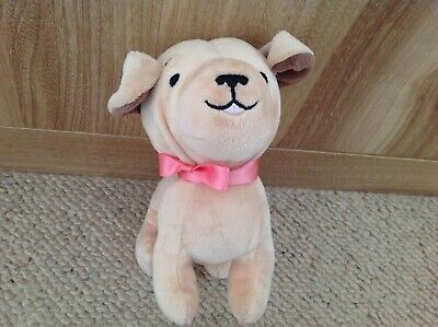H&M ~ Cream Puppy Dog Comforter Soft Toy - Pink Bow Excellent Condition  for sale  Shipping to Ireland