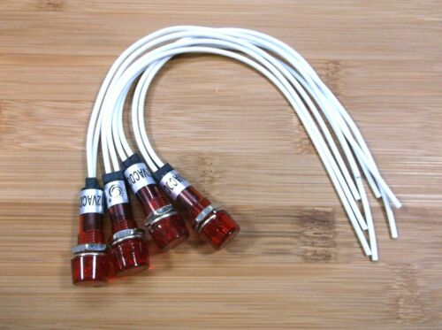 4 BBT 120 volt Hi-Profile Red LED Indicator Lights