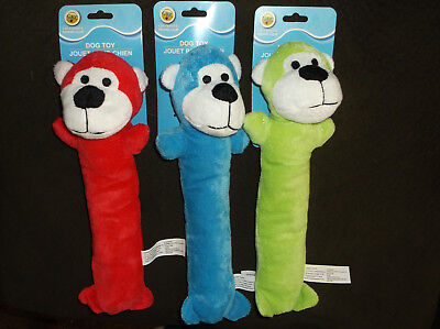 Set of 3 Stuffed Dog Toys Skinny 11.5