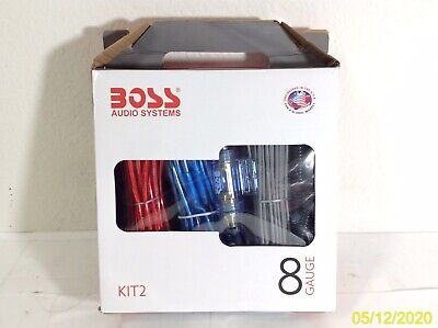 NEW BOSS Audio Systems KIT2 8 Gauge Car Amplifier Installation Wiring Kit
