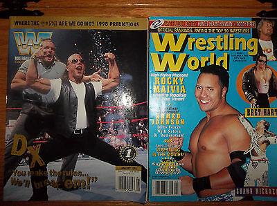 2 WRESTLING MAGAZINES (NEW) WRESTLING WORLD & WWF