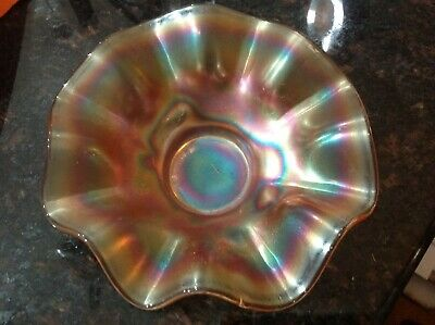 Vintage Carnival Glass Ruffled Hat Dish (Daisy Pattern) for sale  North Las Vegas