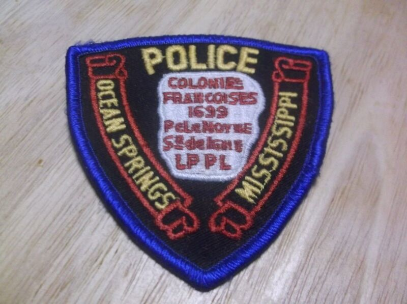 CR16) Ocean Springs Mississippi Police Patch