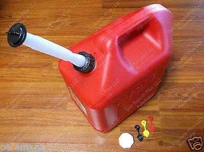 Blitz 50833 Brand New Gas Can 5 Gallon 18.9l Jug Spout Collar Stopper Cap Vents