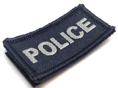 Police Woven Dark Blue Patch, NSW, VIC, WA, QLD, SA, NT, Hook Rear