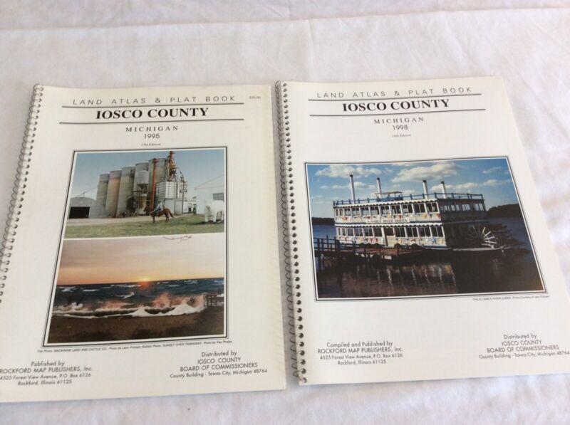 IOSCO COUNTY MICHIGAN Land Atlas & Plat Books 1995,1998