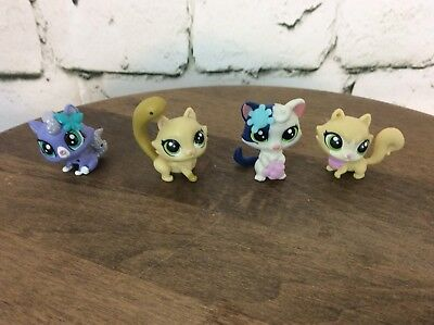 Littlest Pet Shop LPS Lot Of 4 Cats Current Style Small Accessories