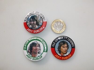 JOEY DUNLOP LEGENDS MAGNETS X3   38MM  IN  SIZE
