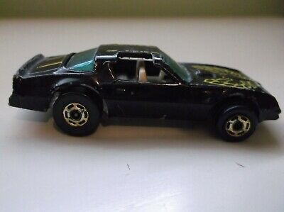 Hot Wheels 1977 Pontiac Firebird Hot Bird Black Hot Ones Blue windows