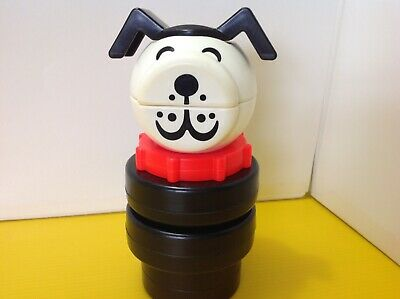 Vintage Fisher Price Puzzle Puppy 8 Inch Stacking Toddler Toy 1970's #659