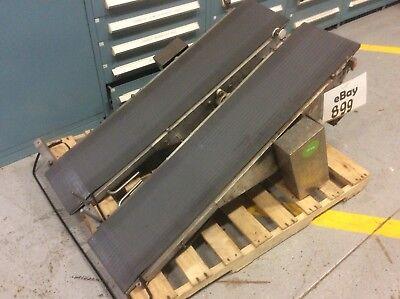 Steel Frame Dual Lane Conveyor W Individual Drives 10-12w X 50l Per Lane