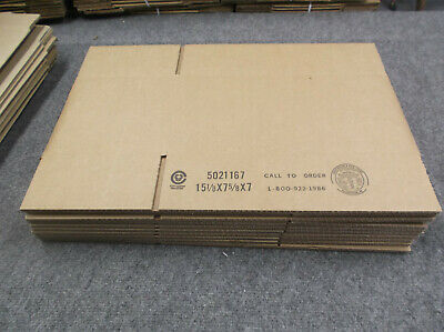 10 15 18 X 7 58 X 7 Corrugated Shipping Boxes Packing Storage Cartons 275lp