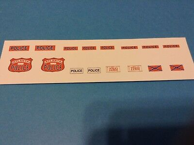 Smokey and the Bandit BAN ONE License Plates 1//18 Scale Waterslide Decals
