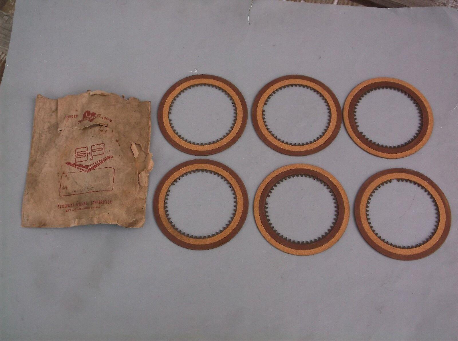 (6) NOS Studebaker Transmission Clutch Disc Plates part number 1548882