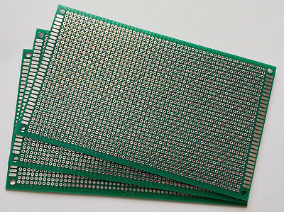 3 Pcs Double Sided Fr-4 Pcb Prototyping Perf Boards Breadboard Diy 9x15cm