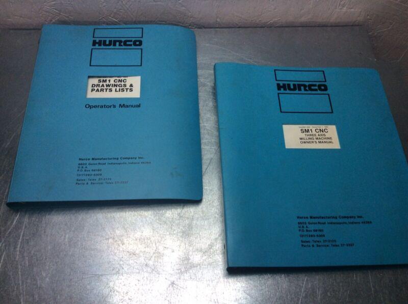 Hurco SM1 CNC 3 Axis Milling Machine Owners & Operators Manual