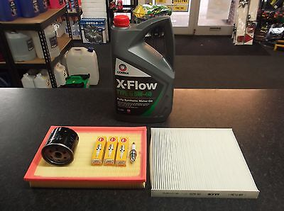 VW POLO 9N 1.4 16V BKY SERVICE KIT OIL AIR CABIN FILTERS SPARK PLUGS OIL XFLOW