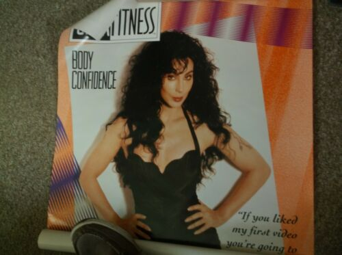 rare vintage 1992 cher body confidence cher fitness poster 25.6 x 38 inch