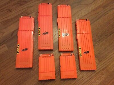Nerf N Strike Stampede 18 Shot And 6 Shot Ammo Plus Magazine Clip Cartridge Lot