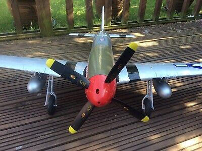 Rc Plane Used Unflown  Arrows P51 Mustang Receiver And Safe Included
