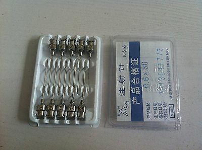 10pcs Stainless Steel Syringe Needle Dispensing Needles 0.6x30mm