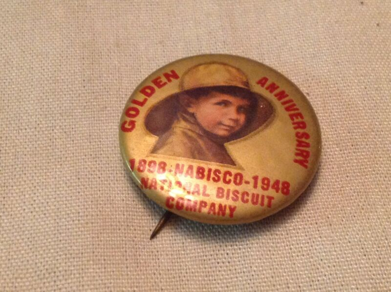 Nabisco 1948 Anniversary Pin Back Button, National Biscuit Co.