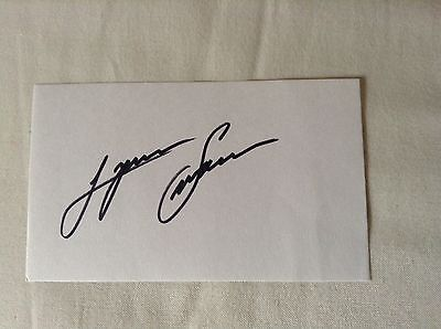 Lynn Swann STEELERS HOF HAND SIGNED 3x5 Index Card w/COA NICE SIGNATURE Stock 03