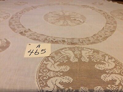 """Round Tables With Runners (44"""" Round Delicate Table Topper With Circles Of Vintage Lace Elegant &)"""