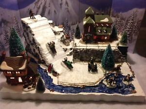 Christmas Village Display Platform Ski Slope Lemax Dept56