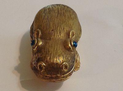 Revlon Solid Perfume Compact Textured Hippopotamus Charlie