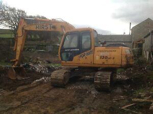 Hyundai Excavator Robex 130lc-3 Digger Year 1999 13 Ton Not JCB Doosan Cat Volvo