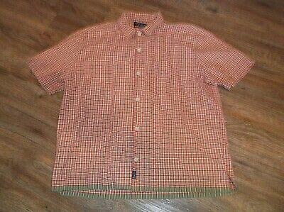 ABERCROMBIE & FITCH Short Sleeve Button Front Shirt Sz Large L 100% Cotton