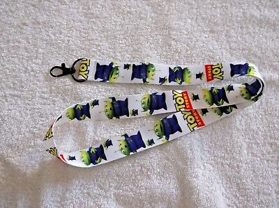 New DISNEY TOY STORY ALIEN LANYARD White