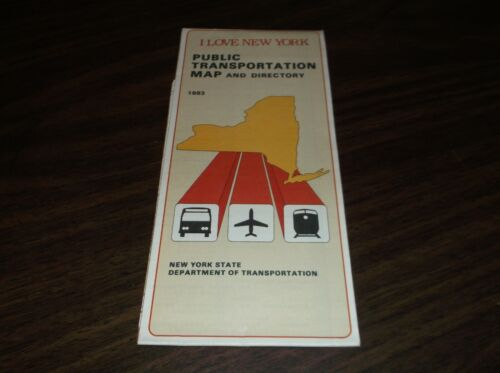 1983 NEW YORK STATE PUBLIC TRANSPORTATION MAP