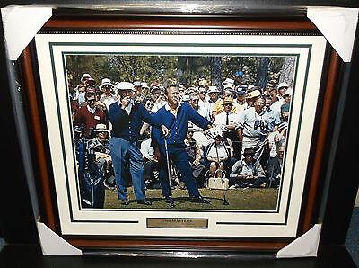 BEN HOGAN ARNOLD PALMER MASTERS CHAMPION 1966 GOLF LEGENDS 16X20 PHOTO FRAMED