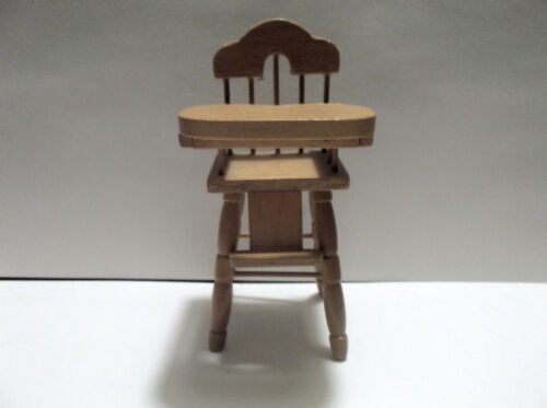 Miniature Dollhouse Wood High Chair