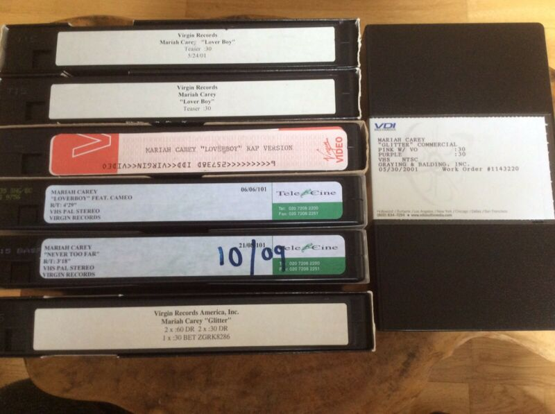 MARIAH CAREY - Glitter - 7 X Promo Only Video Collection.Superb & Very Rare.