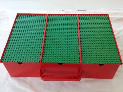 Vintage lego Storage Box With Dividers + Baseplates